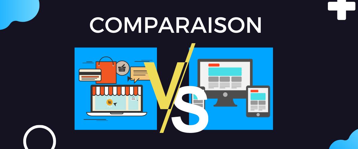 Site vitrine et site e-commerce, c'est quoi la différence ?