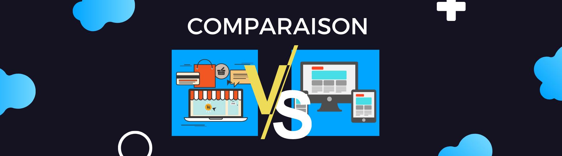 difference entre site ecommerce et vitrine